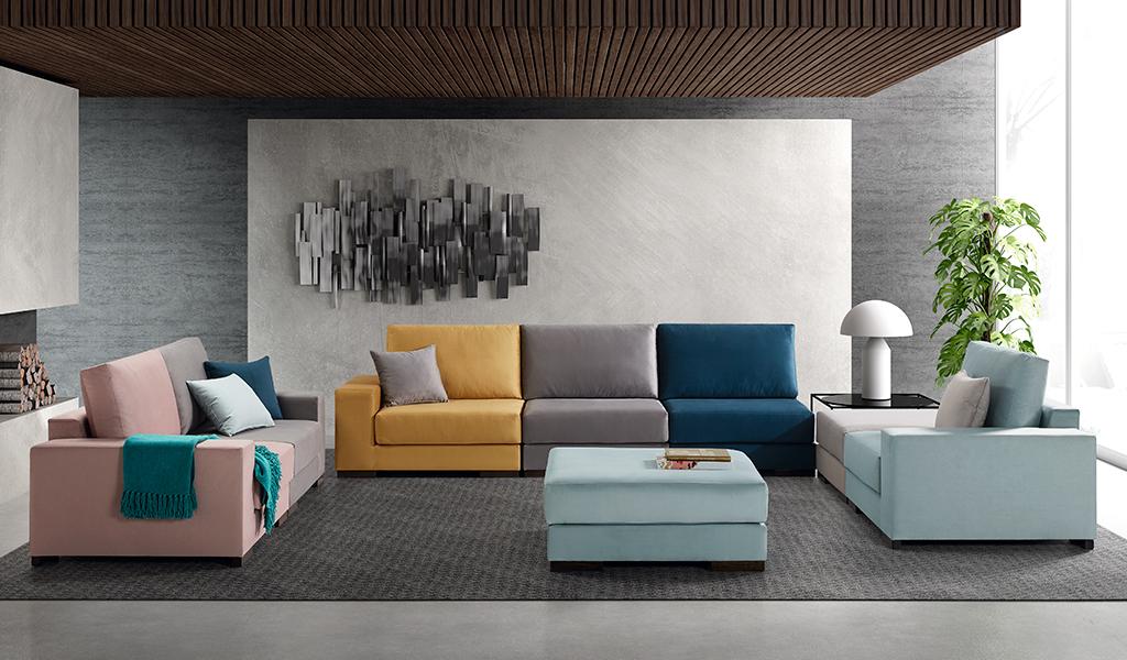 sofá tapizado Puzzle
